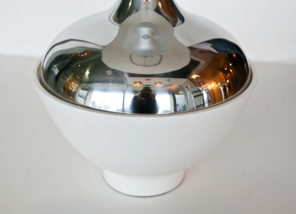 Aluminum Pair of Tony Paul Table Lamps