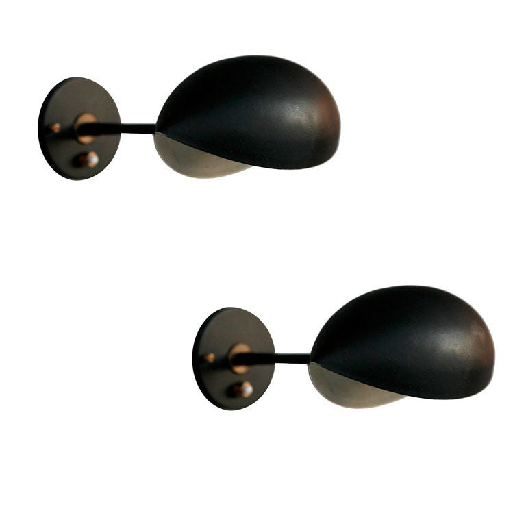 pair of serge mouille oeil appliques at 1stdibs. Black Bedroom Furniture Sets. Home Design Ideas