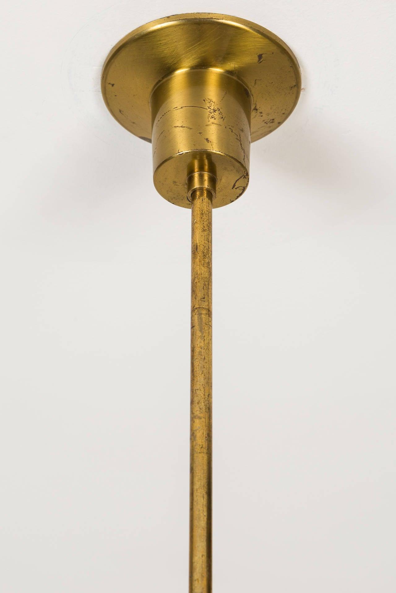 Brass Angelo Lelli for Arredoluce Pendant For Sale