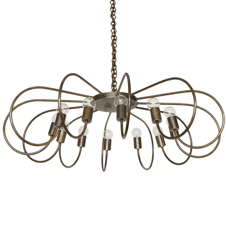 Rewire Custom Twelve Arm Chandelier