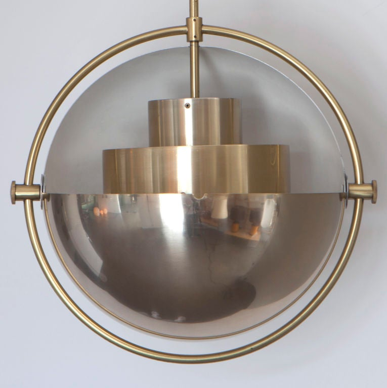 Pendants with adjustable shades for light direction<br /> Priced Individually