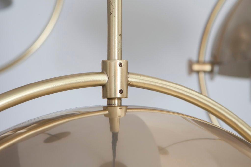 Aluminum Set of Three Louis Weisdorf Pendants for Lyfa