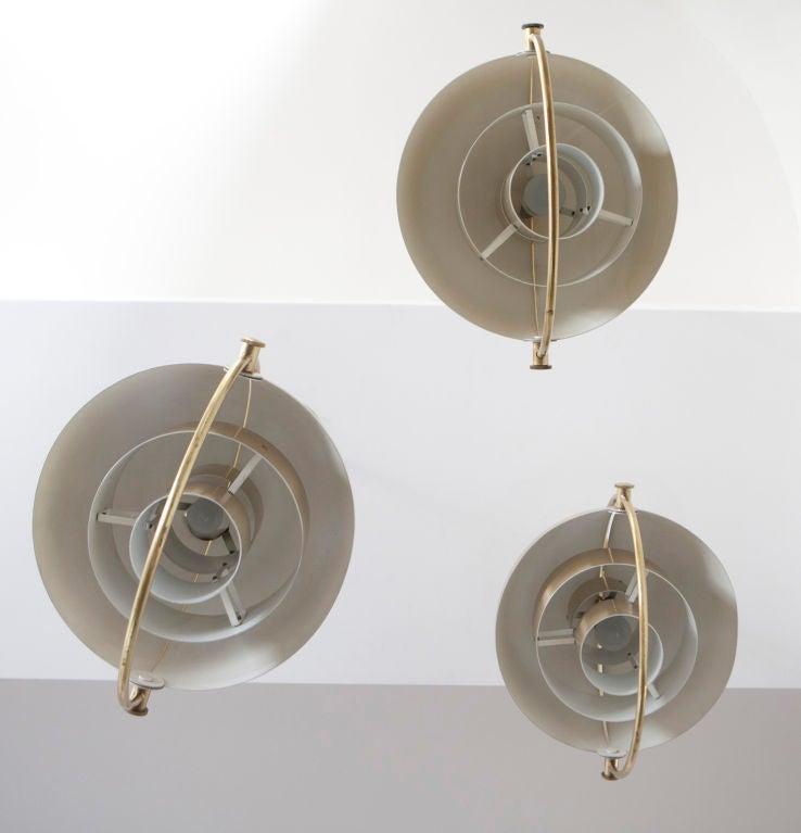 Set of Three Louis Weisdorf Pendants for Lyfa 4