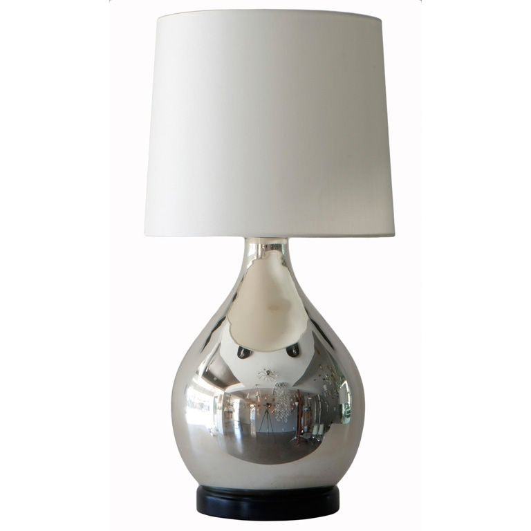 mercury glass table lamp at 1stdibs. Black Bedroom Furniture Sets. Home Design Ideas