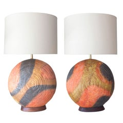 Two Ceramic Table Lamps by Marcello Fantoni