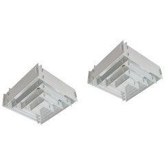 Pair of Louis Poulsen Pyramid Ceiling Lamps