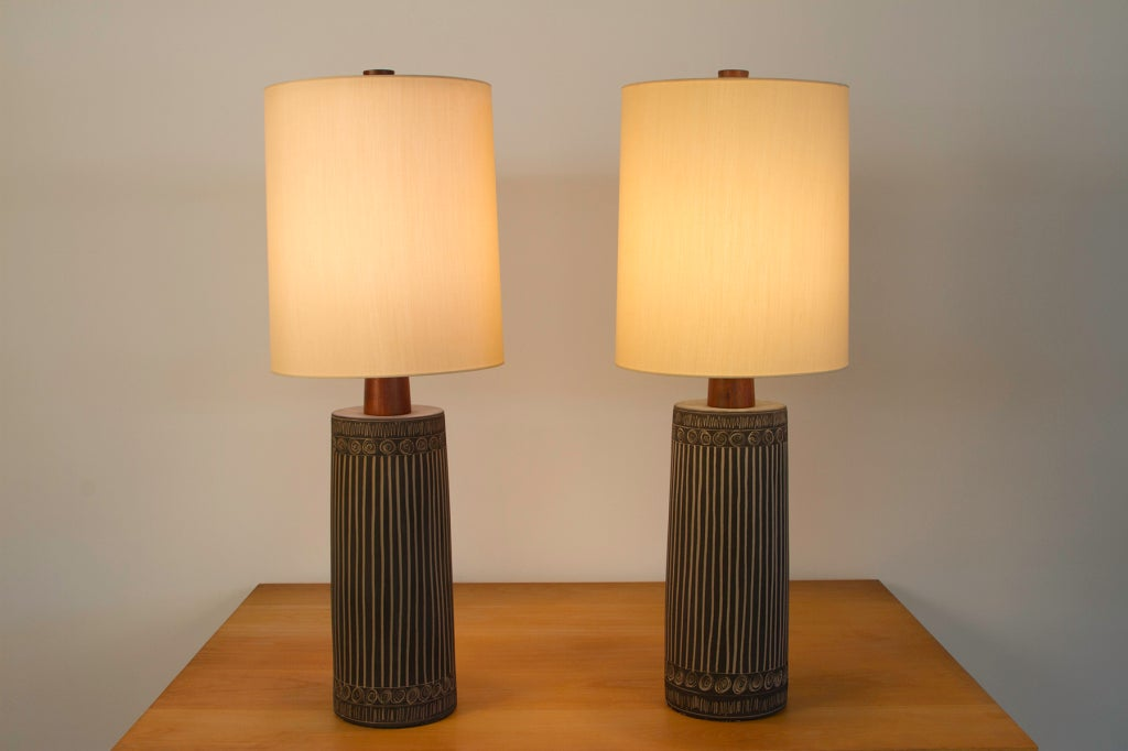 unique pair of martz table lamps at 1stdibs