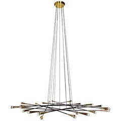 Rewire Custom Flat Multi-Arm Chandelier