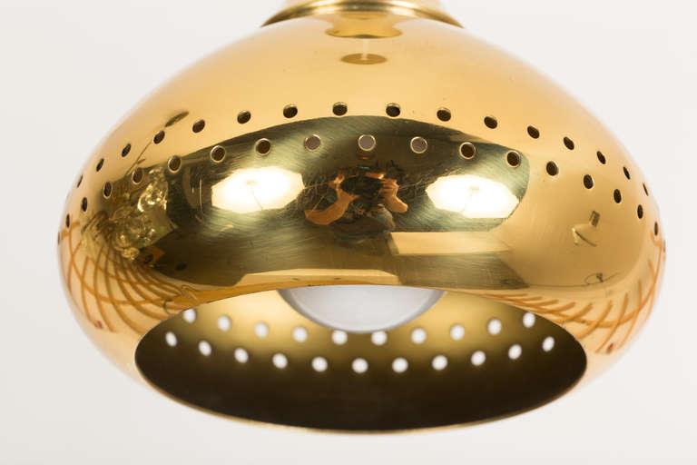 Mid-20th Century Hans Agne Jakobsson Brass Pendants For Sale