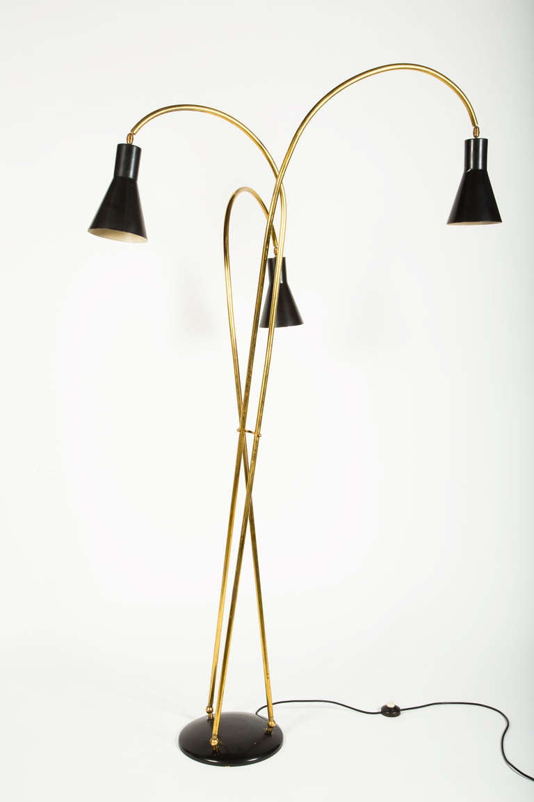 Stilnovo 3 Shade Floor Lamp At 1stdibs