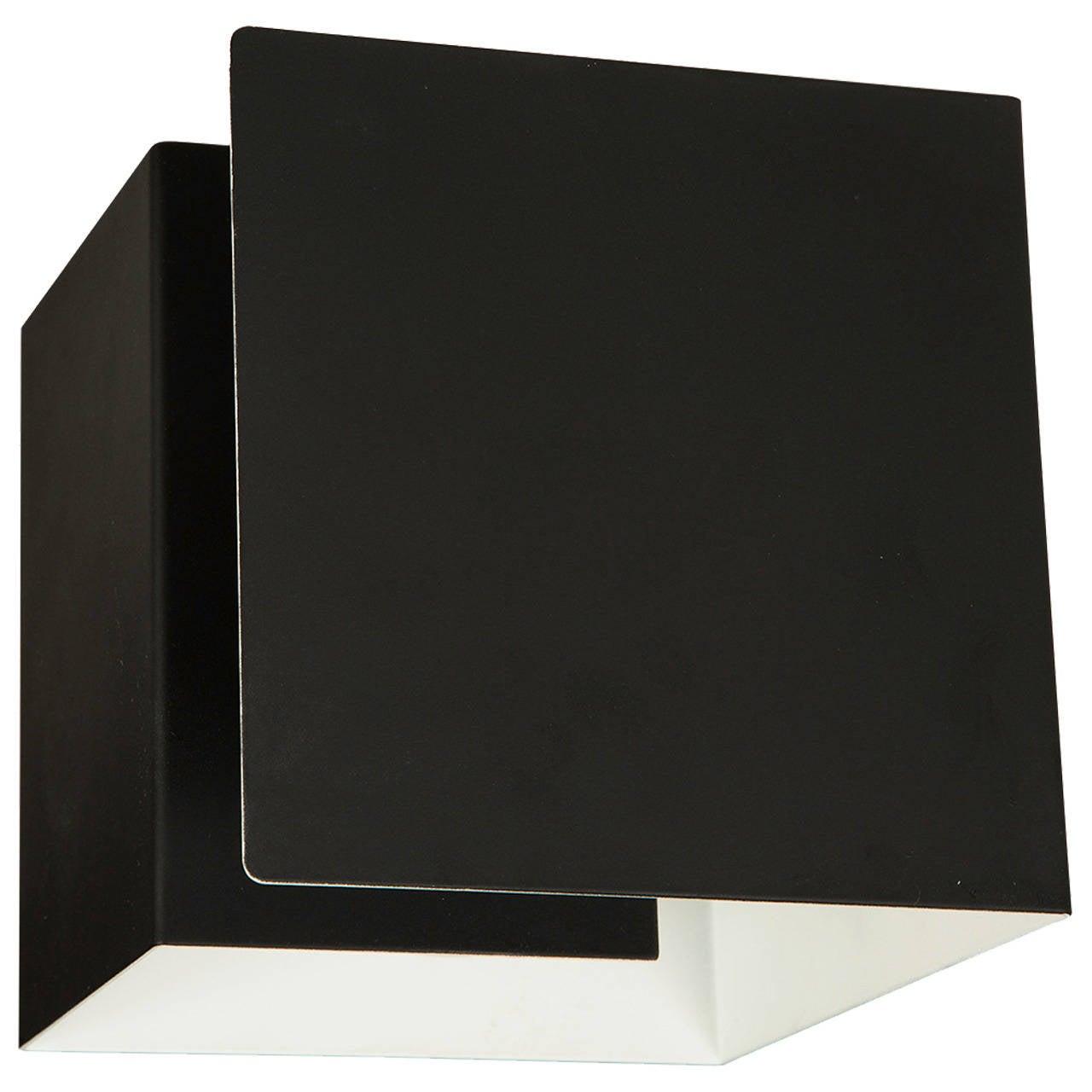 Custom Rewire Black Cube Ceiling or Wall Light