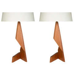 Pair of Sculptural Danish Table Lamps