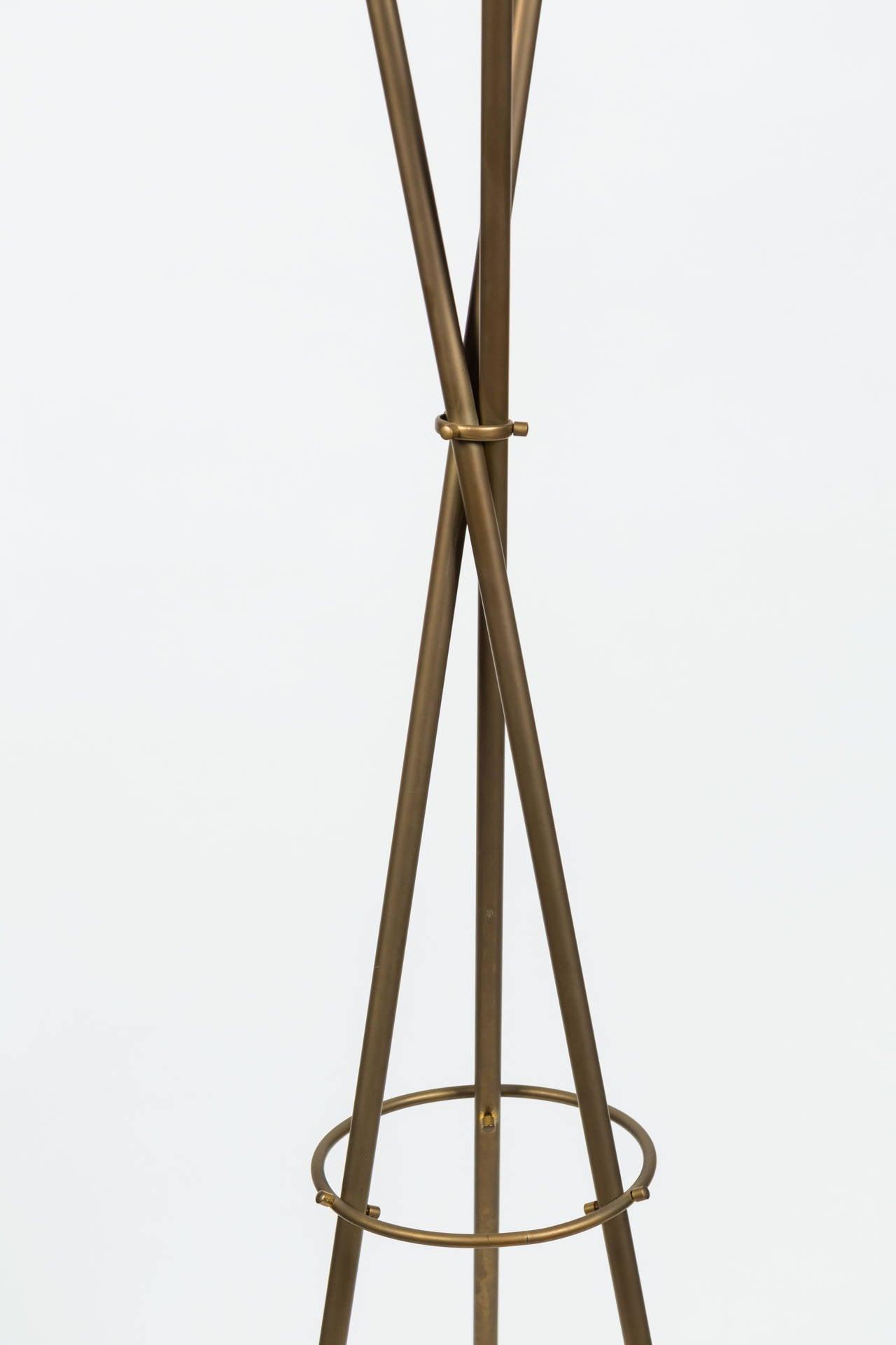 Mid-20th Century Rare Angelo Lelli Floor Lamp for Arredoluce For Sale