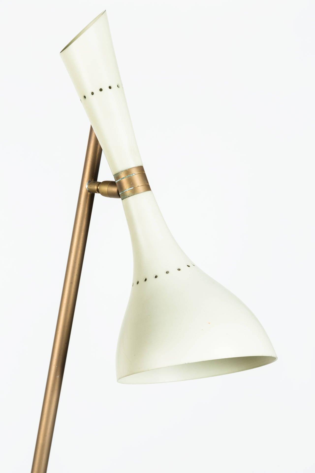Aluminum Rare Angelo Lelli Floor Lamp for Arredoluce For Sale