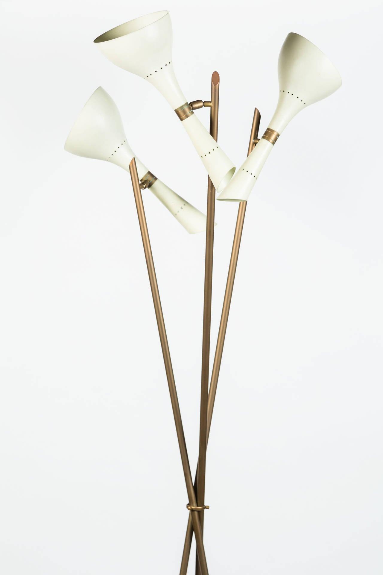 Painted Rare Angelo Lelli Floor Lamp for Arredoluce For Sale