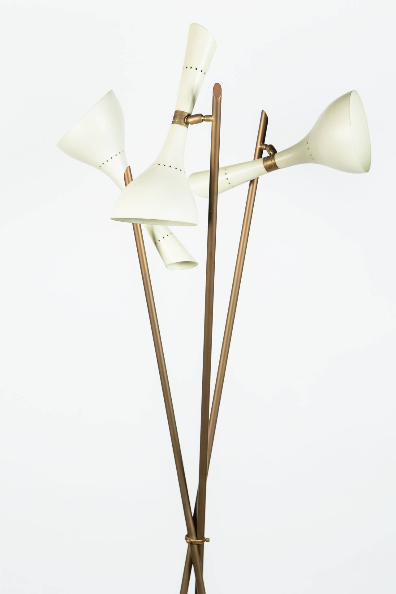 Rare Angelo Lelli Floor Lamp for Arredoluce In Excellent Condition In Los Angeles, CA