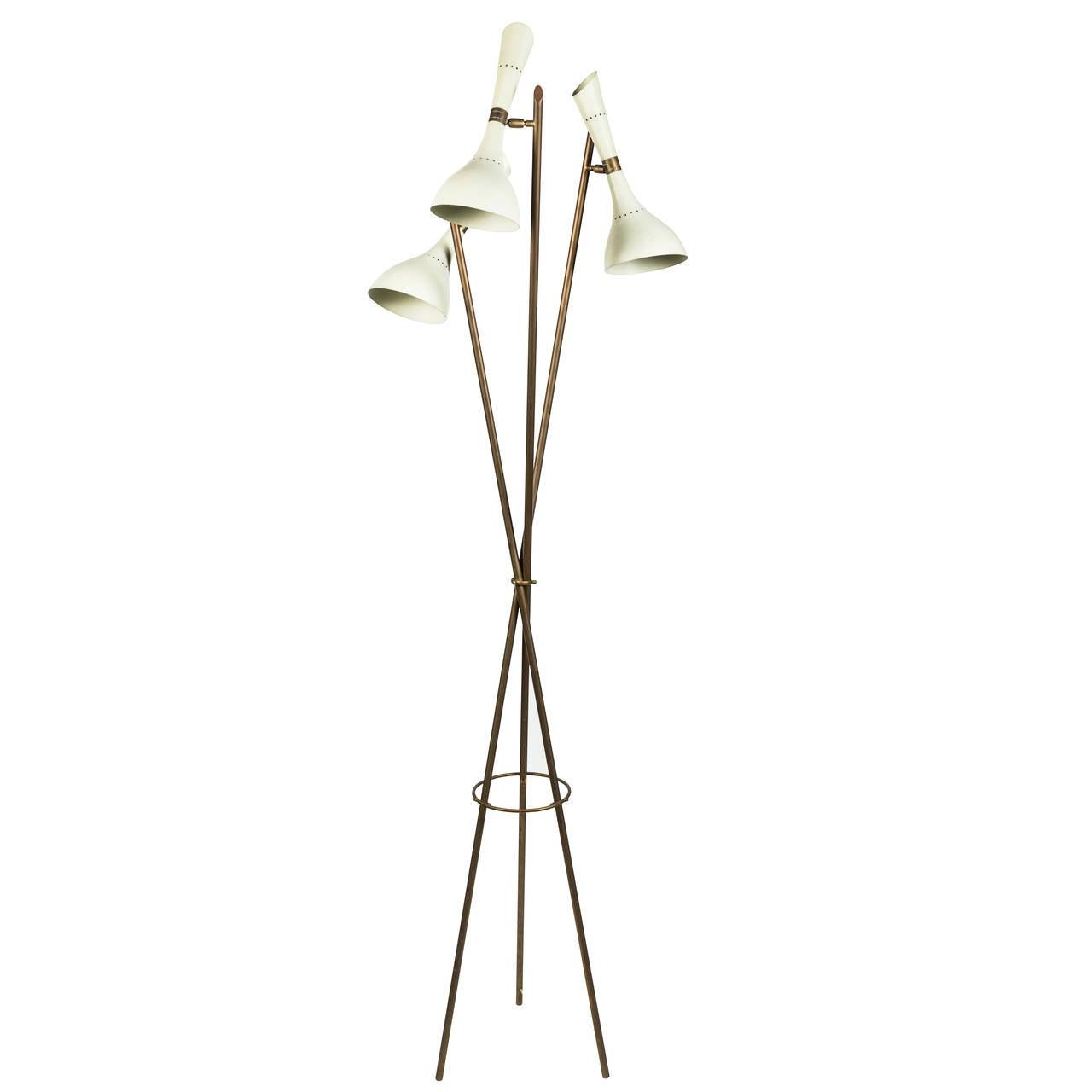 Rare Angelo Lelli Floor Lamp for Arredoluce For Sale