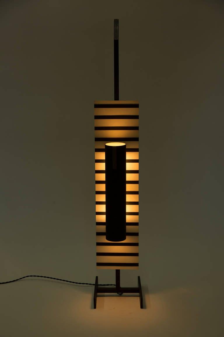 Rectangular floor lamp attributed to Boris Jean Lacroix.