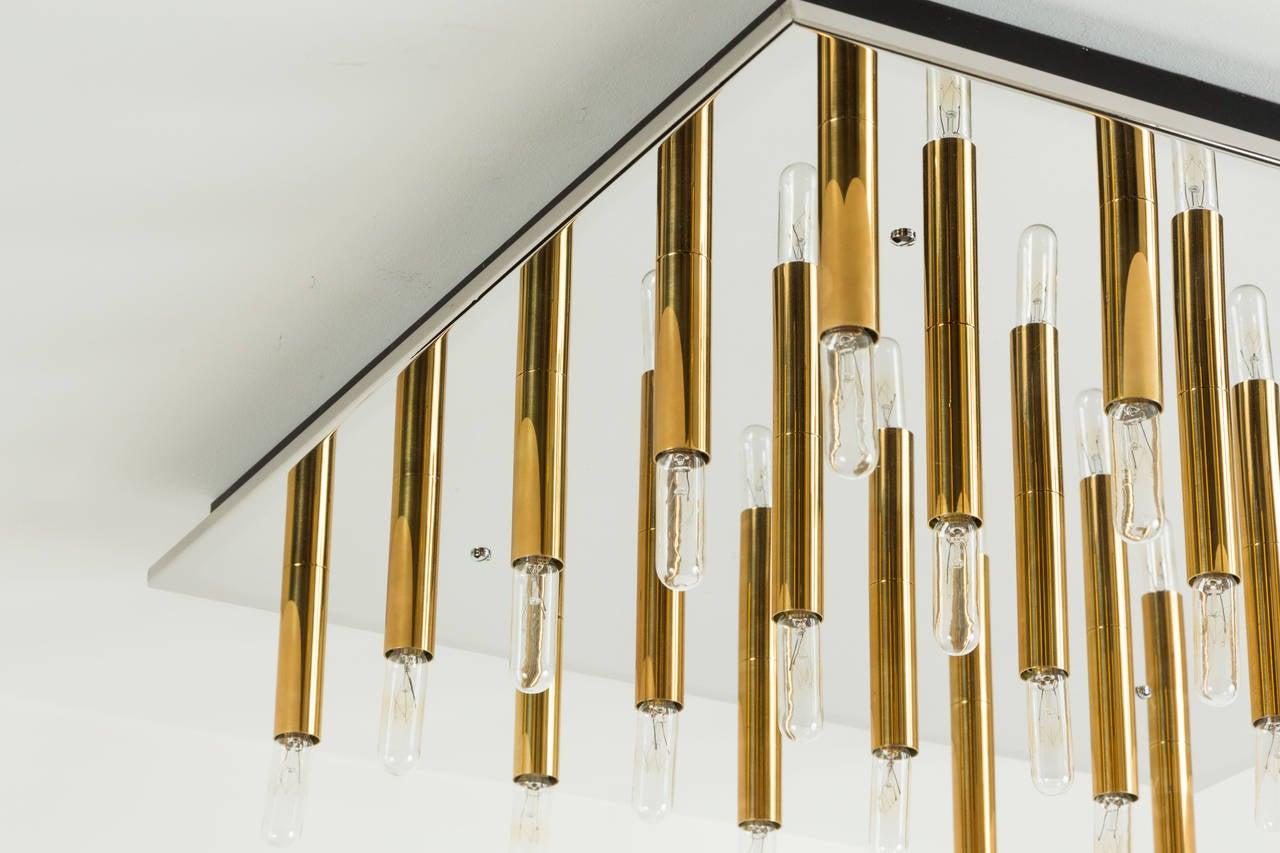 Brass Rewire Custom Light Panel For Sale
