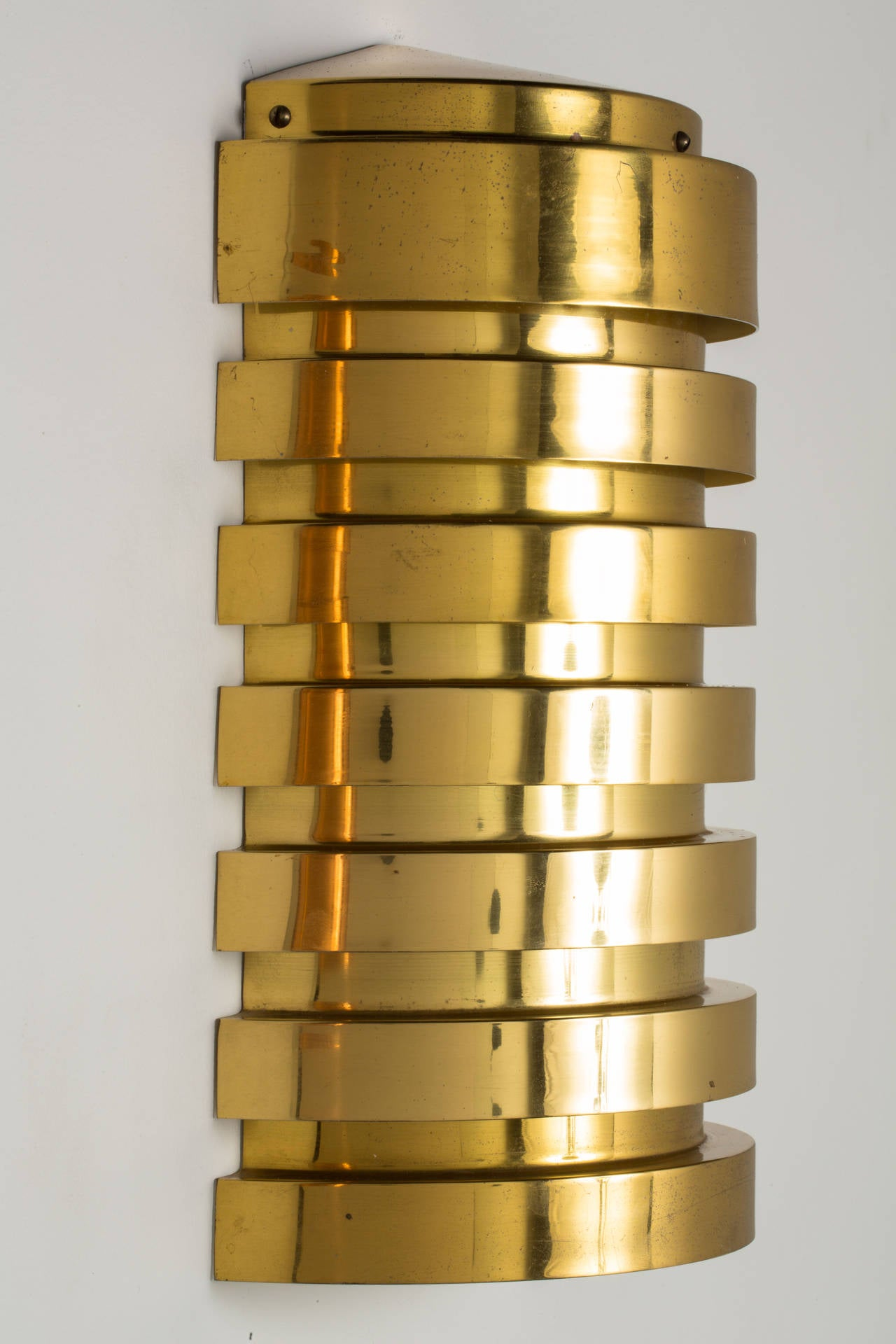 Swedish Pair of Hans Agne Jakobsson Brass Sconces For Sale