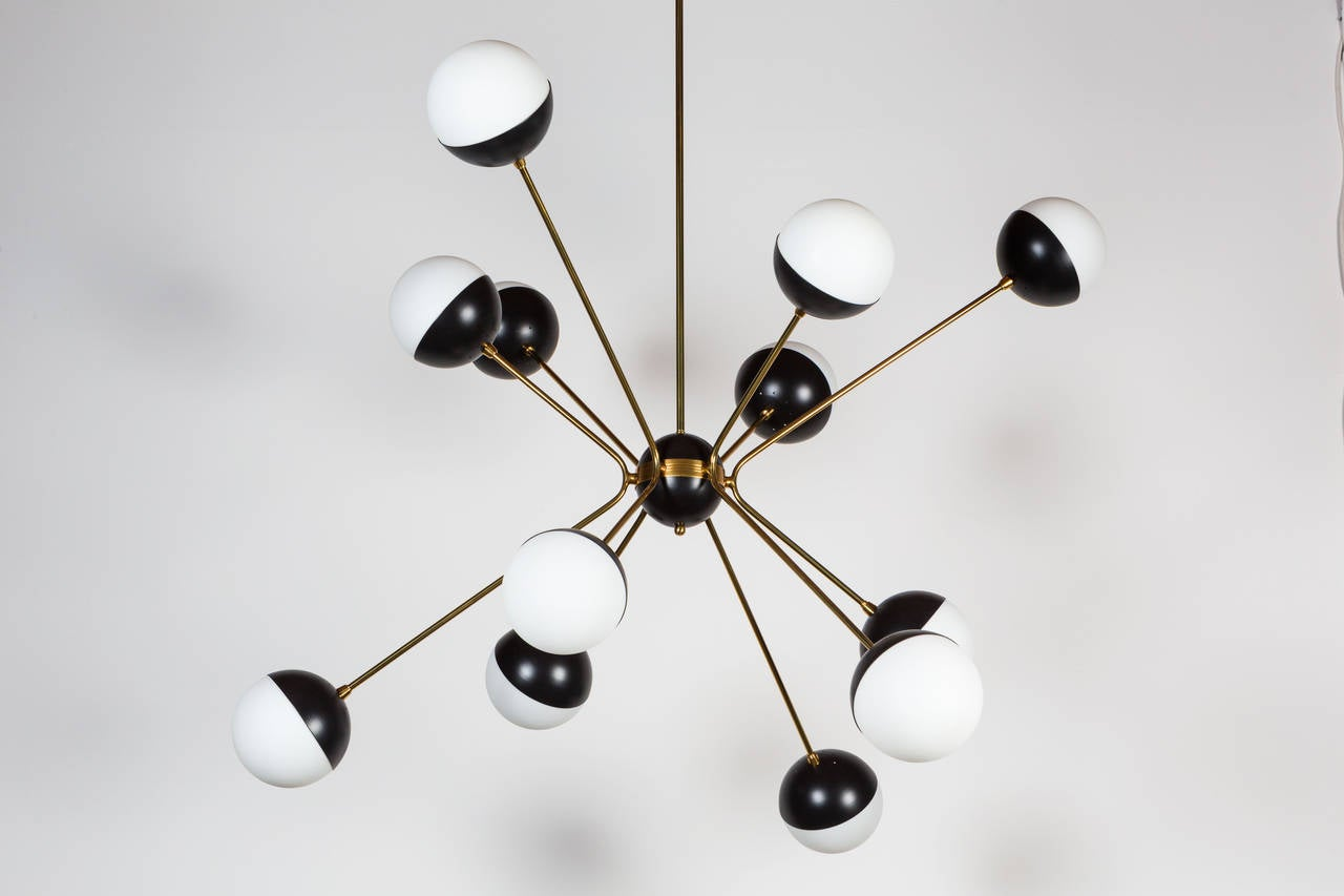 Mid-Century Modern Rewire Custom Orb Chandelier For Sale