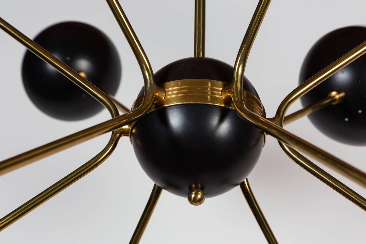 Metal Rewire Custom Orb Chandelier For Sale