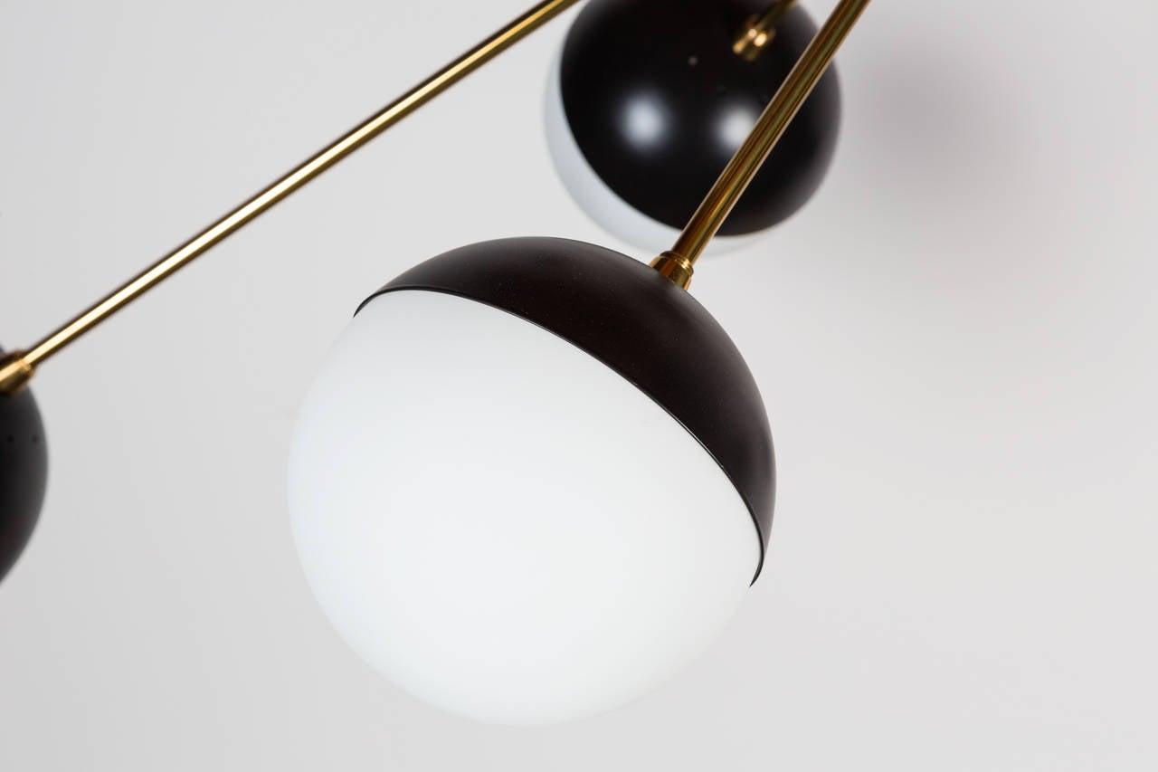 Contemporary Rewire Custom Orb Chandelier For Sale