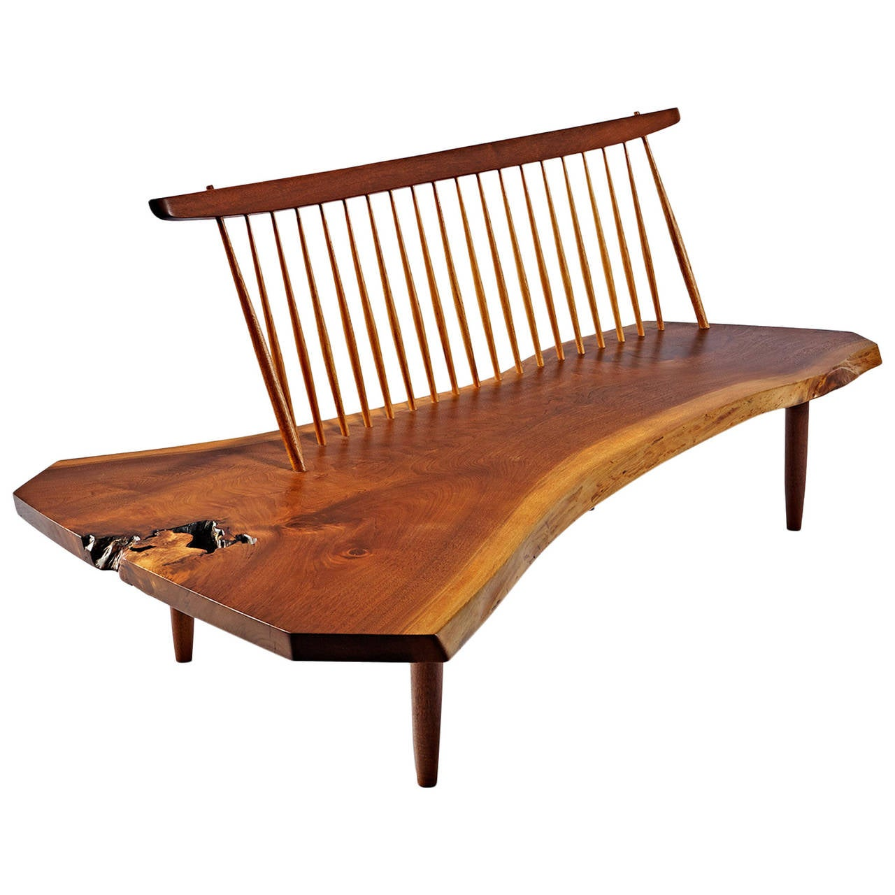 George Nakashima Conoid Bench At 1stdibs
