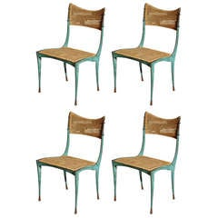 Set of Four Dan Johnson Gazelle Dining Chairs, model 10B