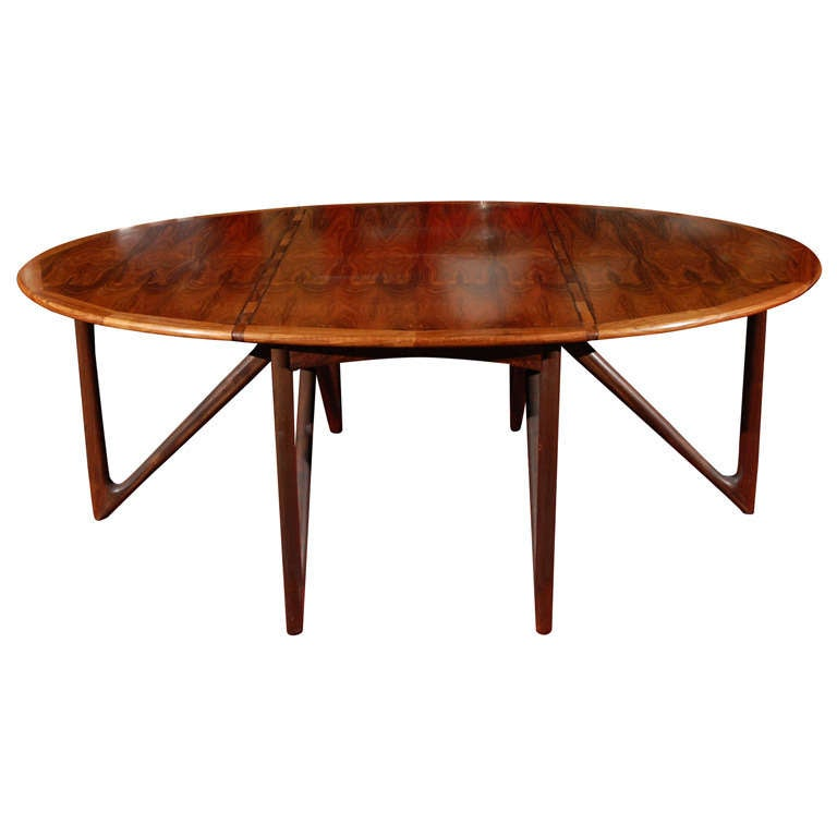 Dining table by kurt ostervig at 1stdibs - Archives departementales 33 tables decennales ...