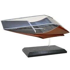 Futuristic Hovercraft Car Model