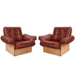 Pair of Danish Club Chairs