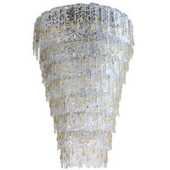 Murano Glass Cascade Chandelier