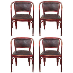Set of Four Gustav Siegel Armchairs