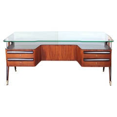 Midcentury Rosewood Desk by Paolo Buffa