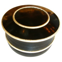 Carved Wood Bowl with Lid