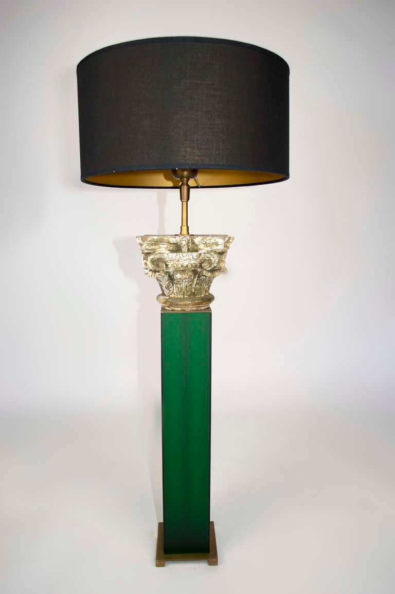this carved wood capital table lamp is no longer available. Black Bedroom Furniture Sets. Home Design Ideas