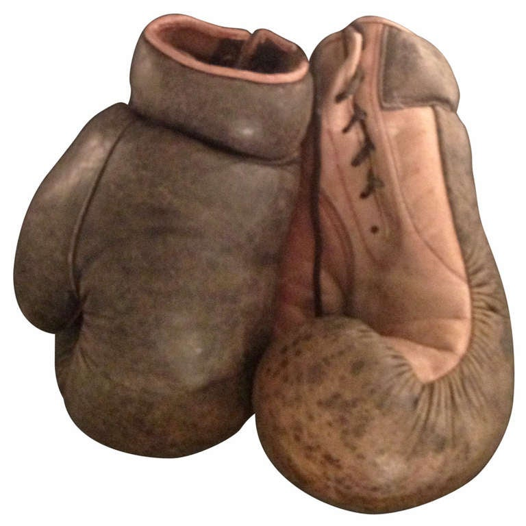 Pair Of Leather Boxing Gloves At 1stdibs