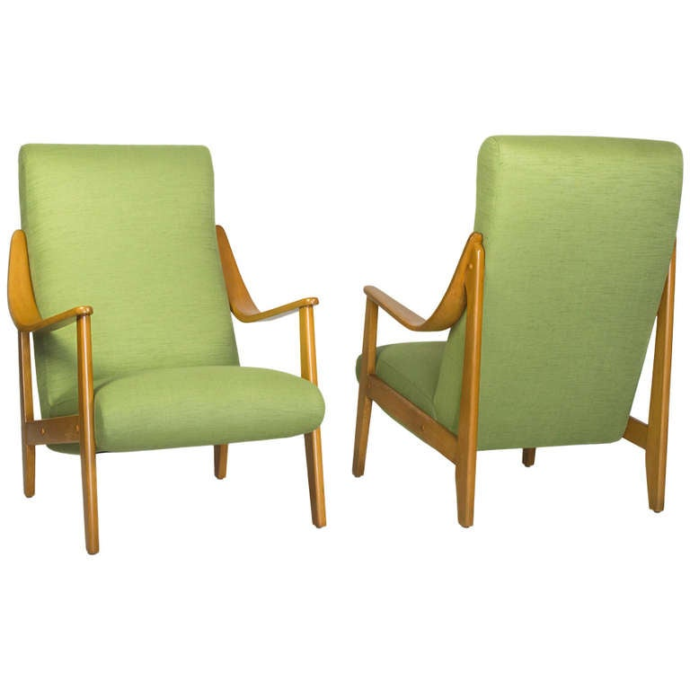 Pair of Mid-Century French Armchairs