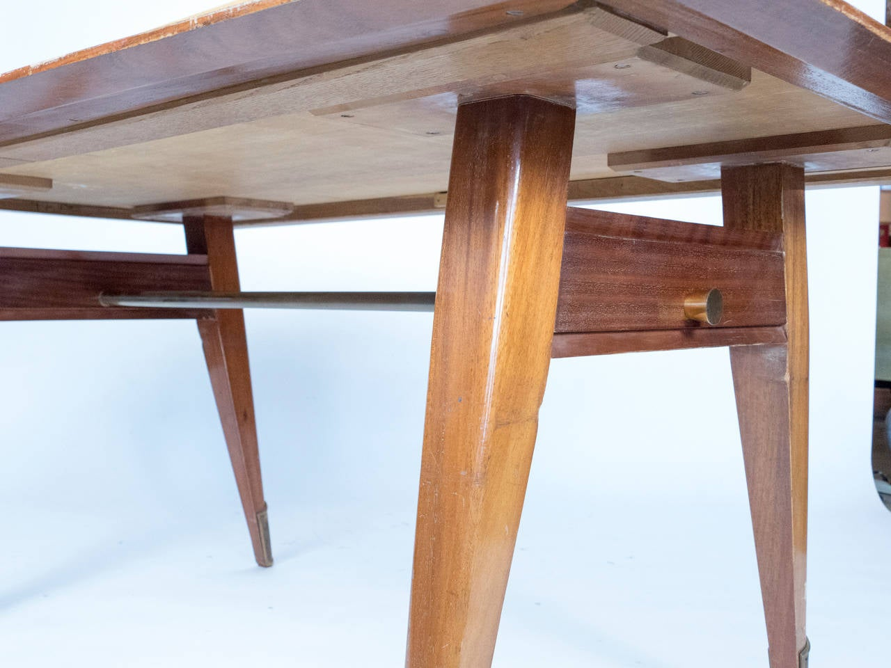 Mahogany 1950 French Dining Table For Sale