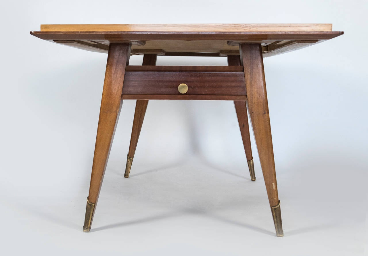 Mid-Century Modern 1950 French Dining Table For Sale