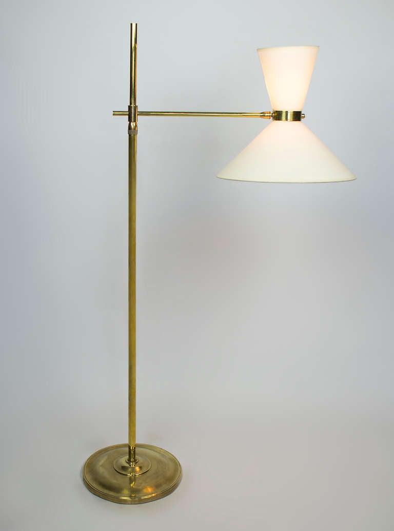 Mid Century Brass Adjustable Floor Lamp At 1stdibs