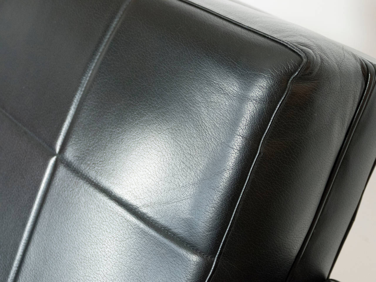 French Quilted Leather Armchairs For Sale 2