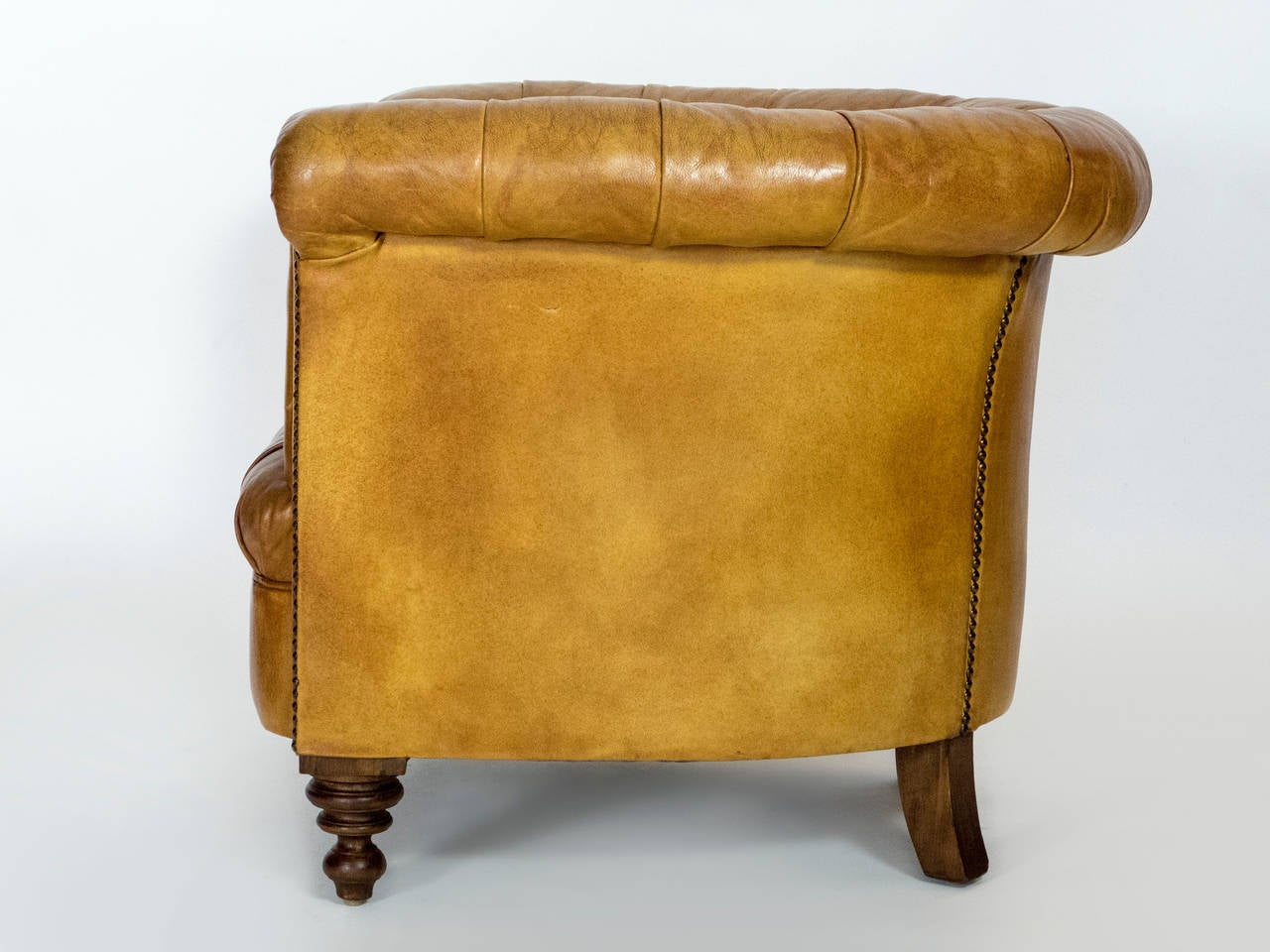 leather chesterfield armchair for sale at 1stdibs