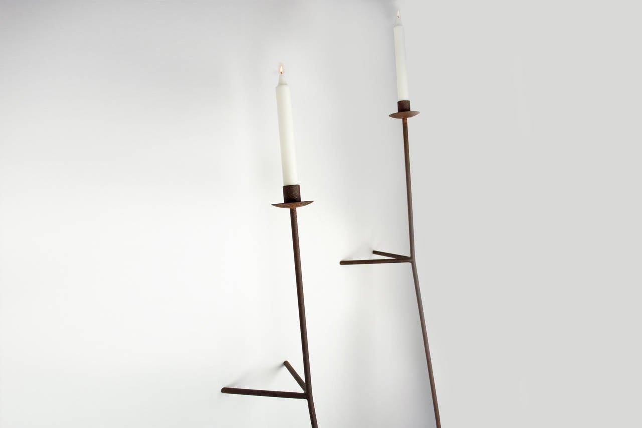 Font Albe Wall Sconce Taper Candle Model At 1stdibs