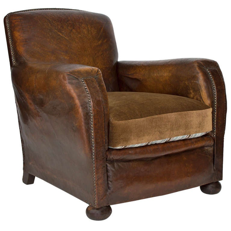 1920 S French Club Chair At 1stdibs
