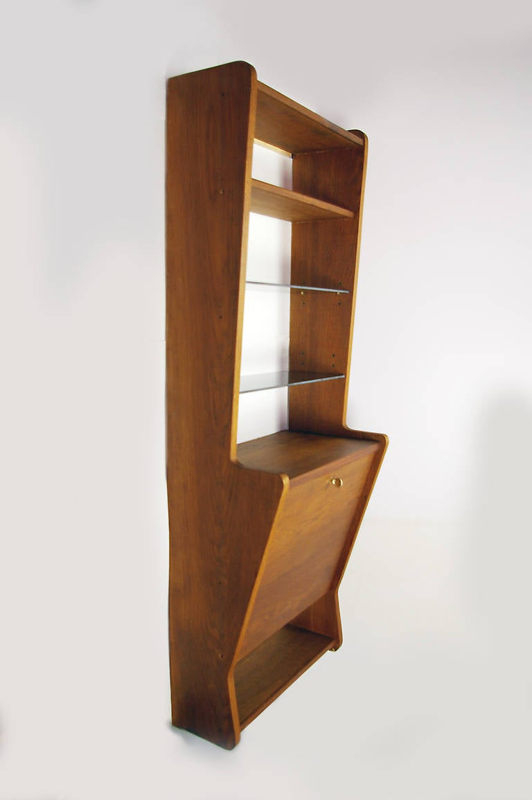 French Mid Century Wall Mounted Desk At 1stdibs