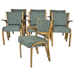 7  Bow-wood Chairs by Steiner