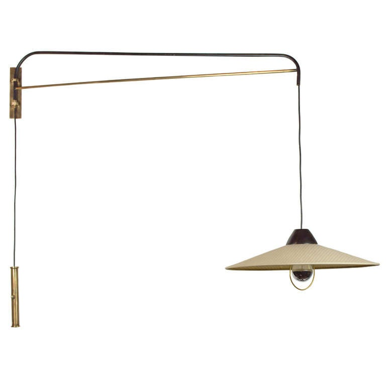 Adjustable Wall Sconce With Switch : Mid-Century Adjustable Wall Sconce at 1stdibs