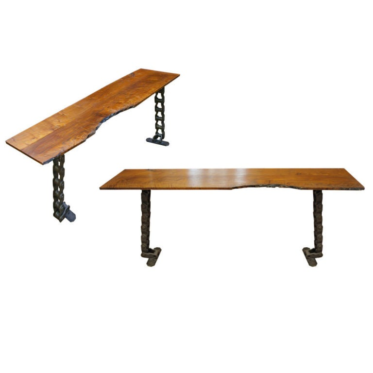 Conveyer chain console at stdibs
